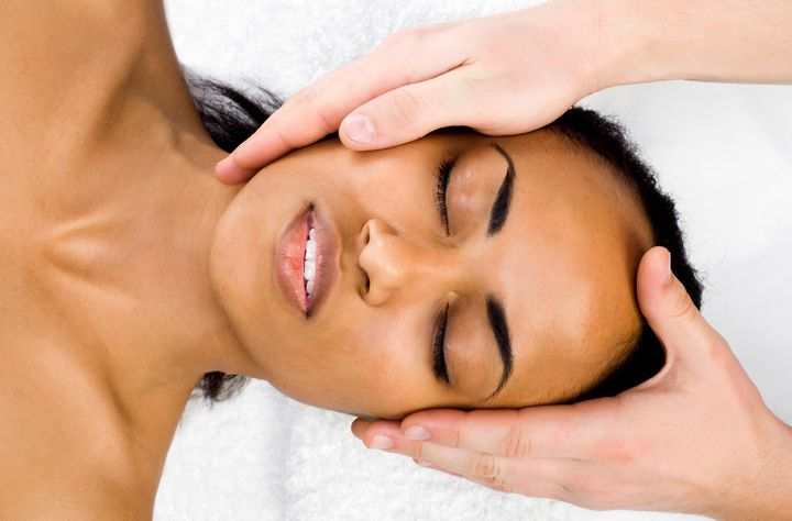 """Skin-saving benefits aside,&nbsp;Berthelot also cites happiness as a reason to get facials regularly: """"The more you take care of yourself, the better you feel."""" It's no secret that <a href=""""http://www.huffingtonpost.ca/2012/07/18/how-moods-mess-with-your-_n_1682852.html"""" target=""""_blank"""">mood&nbsp;impacts your complexion</a>&nbsp;in a big day."""