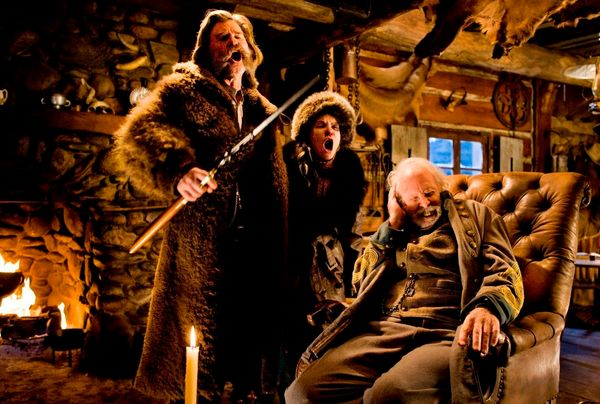"Picture ""The Hateful Eight"" written or directed by anyone other than Quentin Tarantino. It's a joke! A three-hour-long movie,"