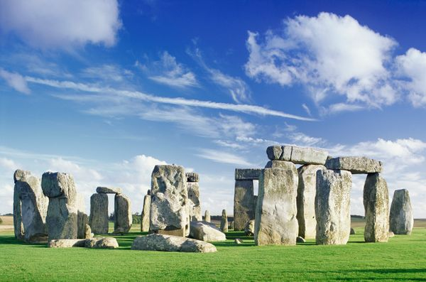Stonehenge was built between 3000 and 1520 B.C. While the giant outer ring is constructed from sandstone taken from <a href=""