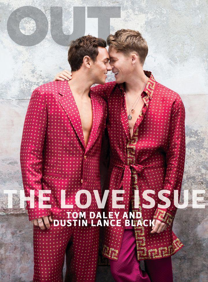 Tom Daley (left) and Dustin Lance Black.