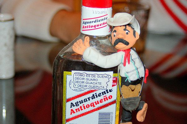 "This anise-flavored liquor is derived from sugarcane, but don't expect it to be sweet. Aguardiente – colloquially known as ""g"
