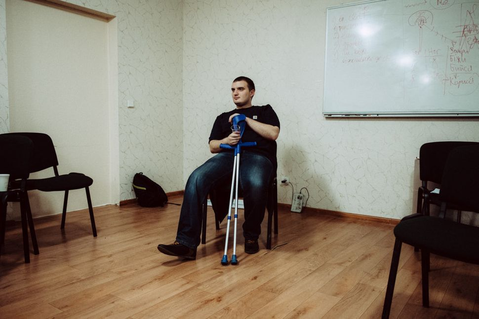 Ukrainian veteran Maxim, 25, lost part of his leg from fighting in the war, and for several months was depressed and una