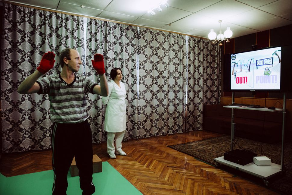 The rehabilitation center at Irpin provides an Interactive Rehabilitation and Exercise System (IREX), where patients rec