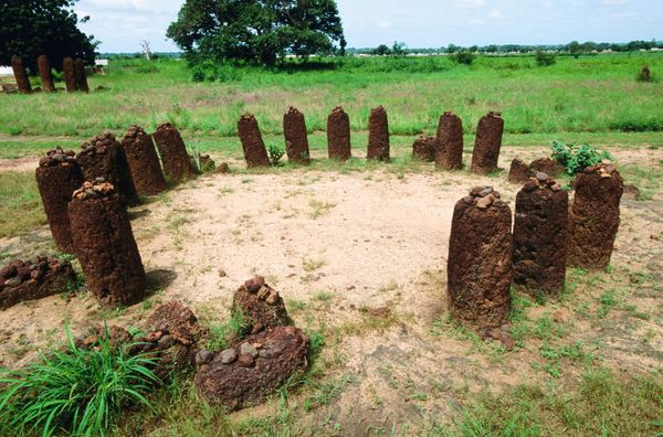 "The Stone Circles of Senegambia <a href=""http://whc.unesco.org/en/list/1226"">encompass</a> four sites of ancient monuments al"