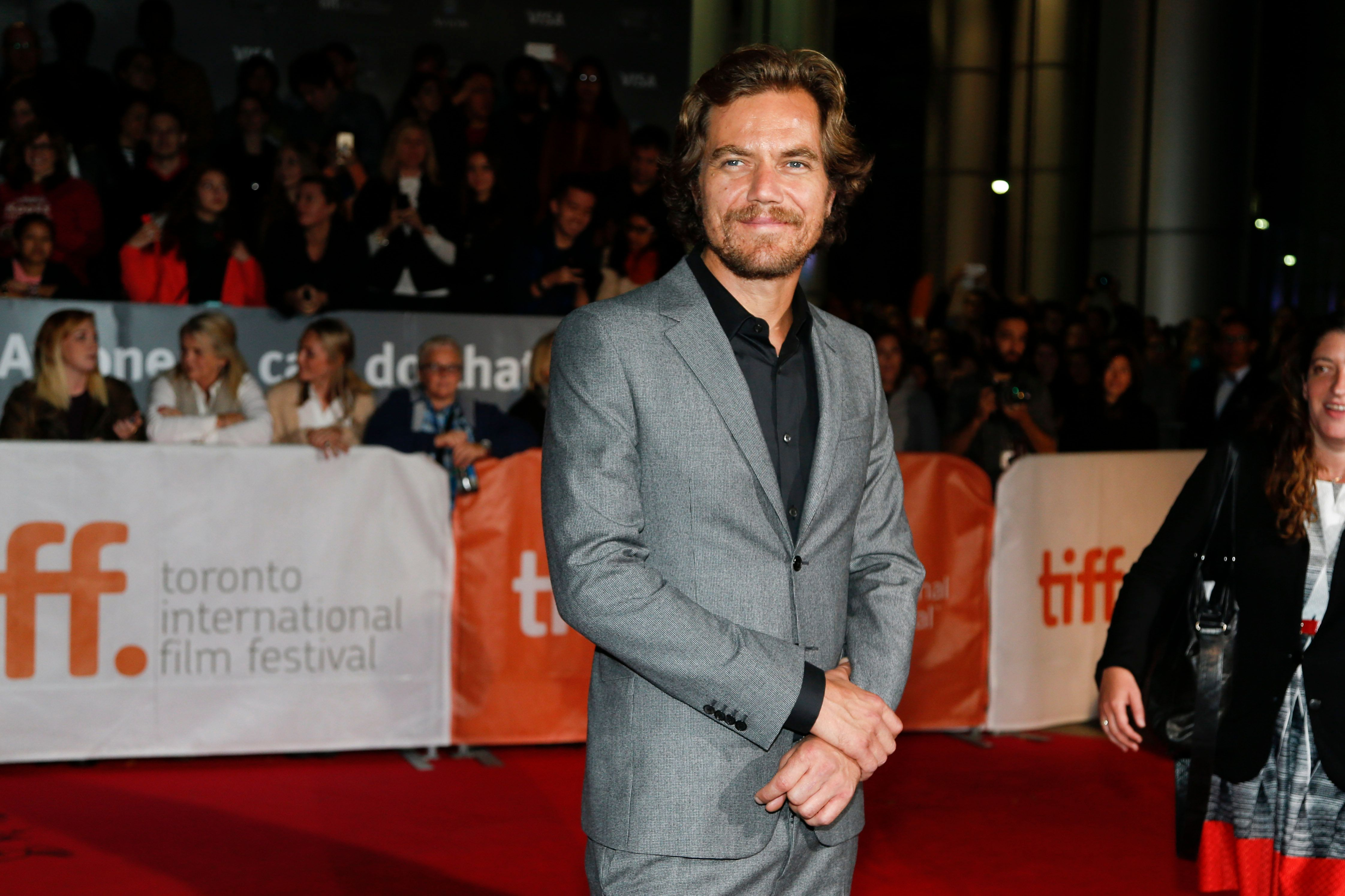 TORONTO, ON - SEPTEMBER 13 - Michael Shannon walks the red carpet at Roy Thomson Hall for the screening of Freeheld, September 13, 2015.        (Bernard Weil/Toronto Star via Getty Images)