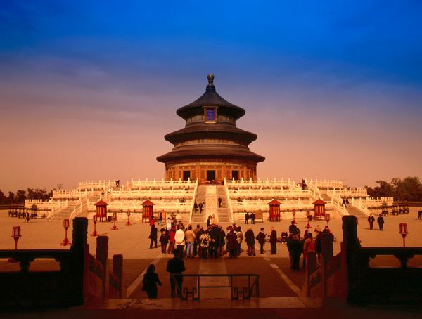 "The Temple of Heaven, located in Beijing, China, is said to <a href=""http://whc.unesco.org/en/list/881"">symbolize</a> the rel"