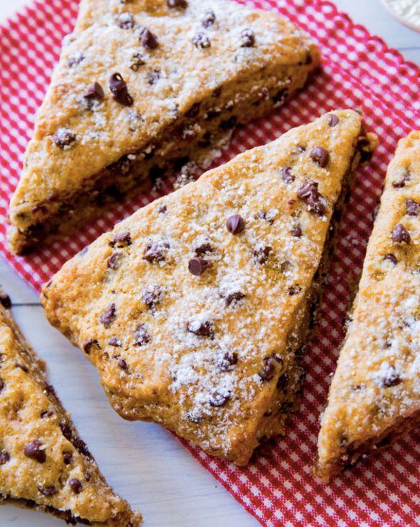 "<strong>Get the <a href=""http://sallysbakingaddiction.com/2014/06/01/chocolate-chip-scones/"">Chocolate Chip Scones recipe</a>"