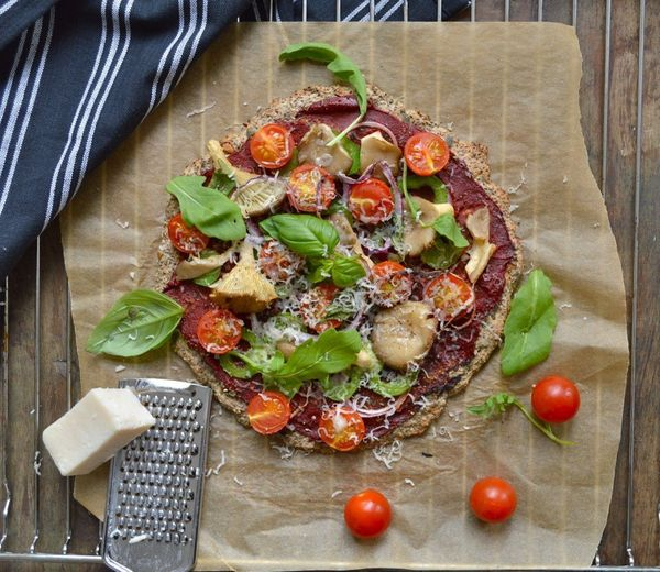 "<strong>Get the <a href=""http://nyoutritious.com/grain-free-chia-buckwheat-pizza/"" target=""_blank"">Chia Buckwheat Pizza recip"