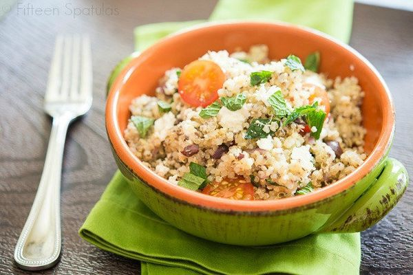 "<strong>Get the <a href=""http://www.fifteenspatulas.com/quinoa-salad-with-feta-and-chia-seeds/"" target=""_blank"">Quinoa Salad"