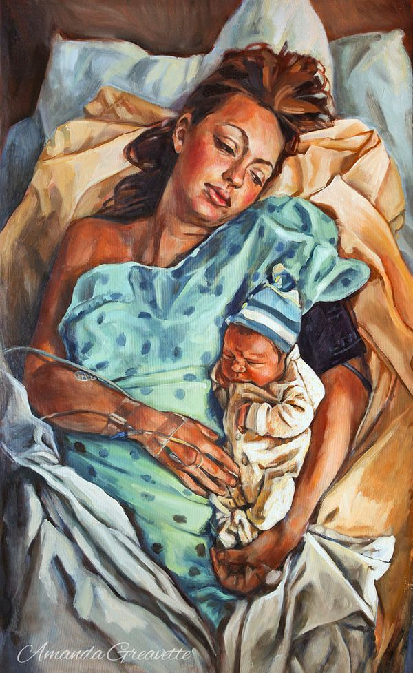 31 Powerful Paintings That Capture The Beauty Of Birth And ...