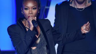 LAS VEGAS, NV - NOVEMBER 06:  Recording artist Brandy performs during the 2015 Soul Train Music Awards at the Orleans Arena on November 6, 2015 in Las Vegas, Nevada.  (Photo by Ethan Miller/BET/Getty Images for BET)
