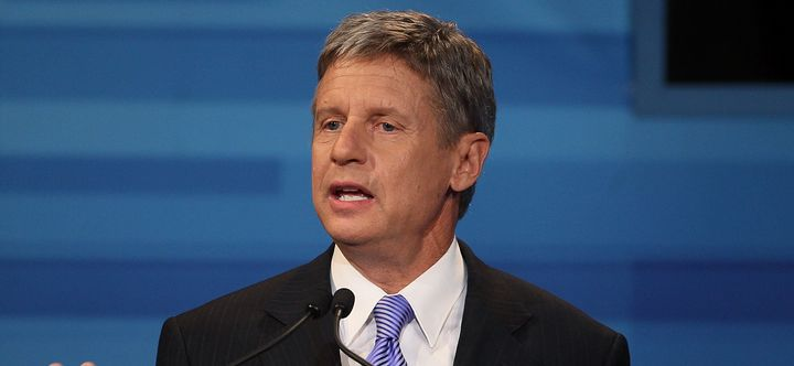 Former New Mexico Gov. Gary Johnson declared his candidacy for president Wednesday.