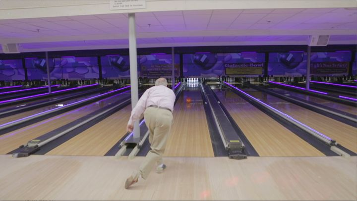 Sen. Lindsey Graham (R-S.C.) takes a break from the rigors of thecampaign trail at a bowling alley in Manchester, New H