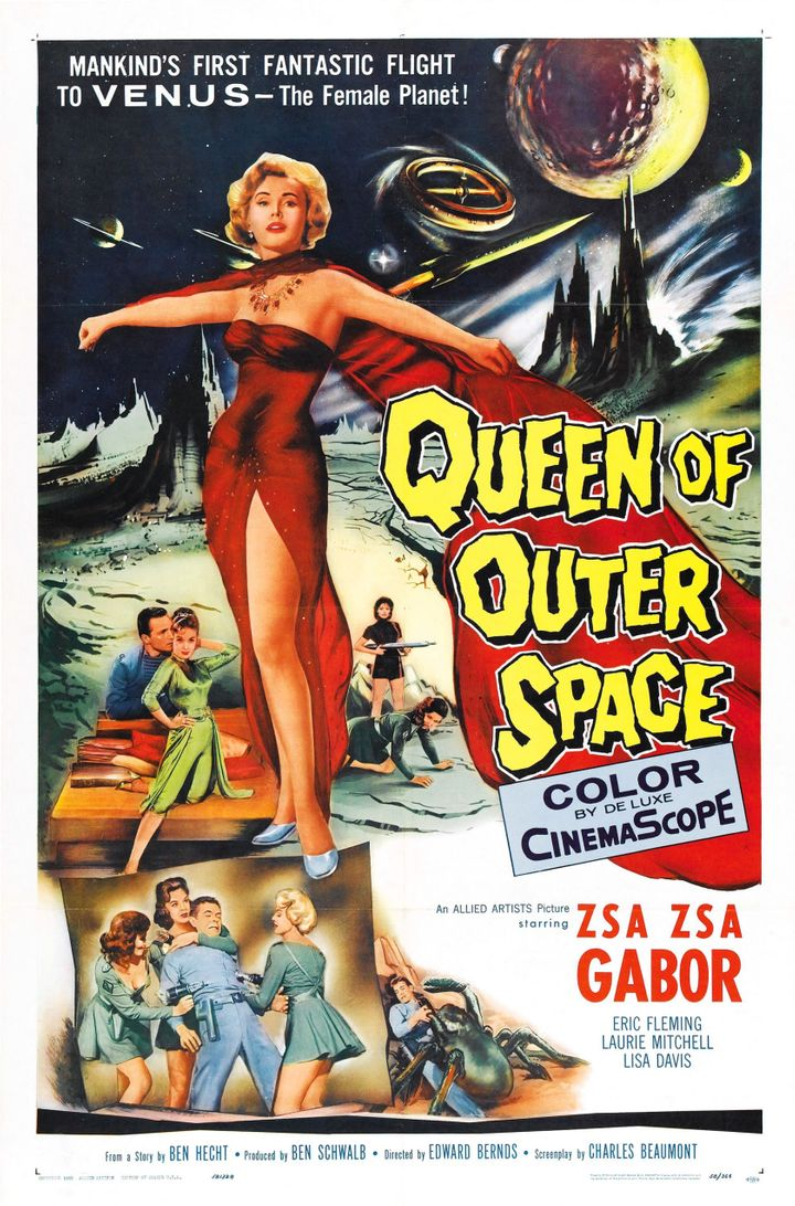 "The 1958 poster for ""Queen of Outer Space."""