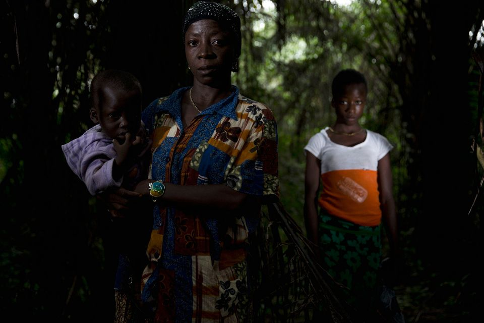 """When someone living in her compound in Rosanda died from Ebola, Eisha took her children to a farm 10 kilometers (6"