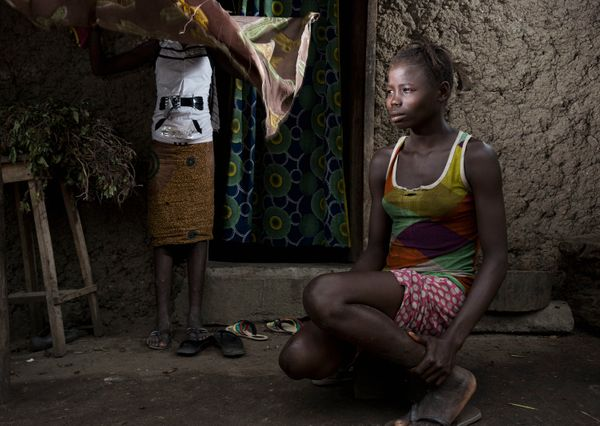 Sister survivors in Rosanda, Sierra Leone.