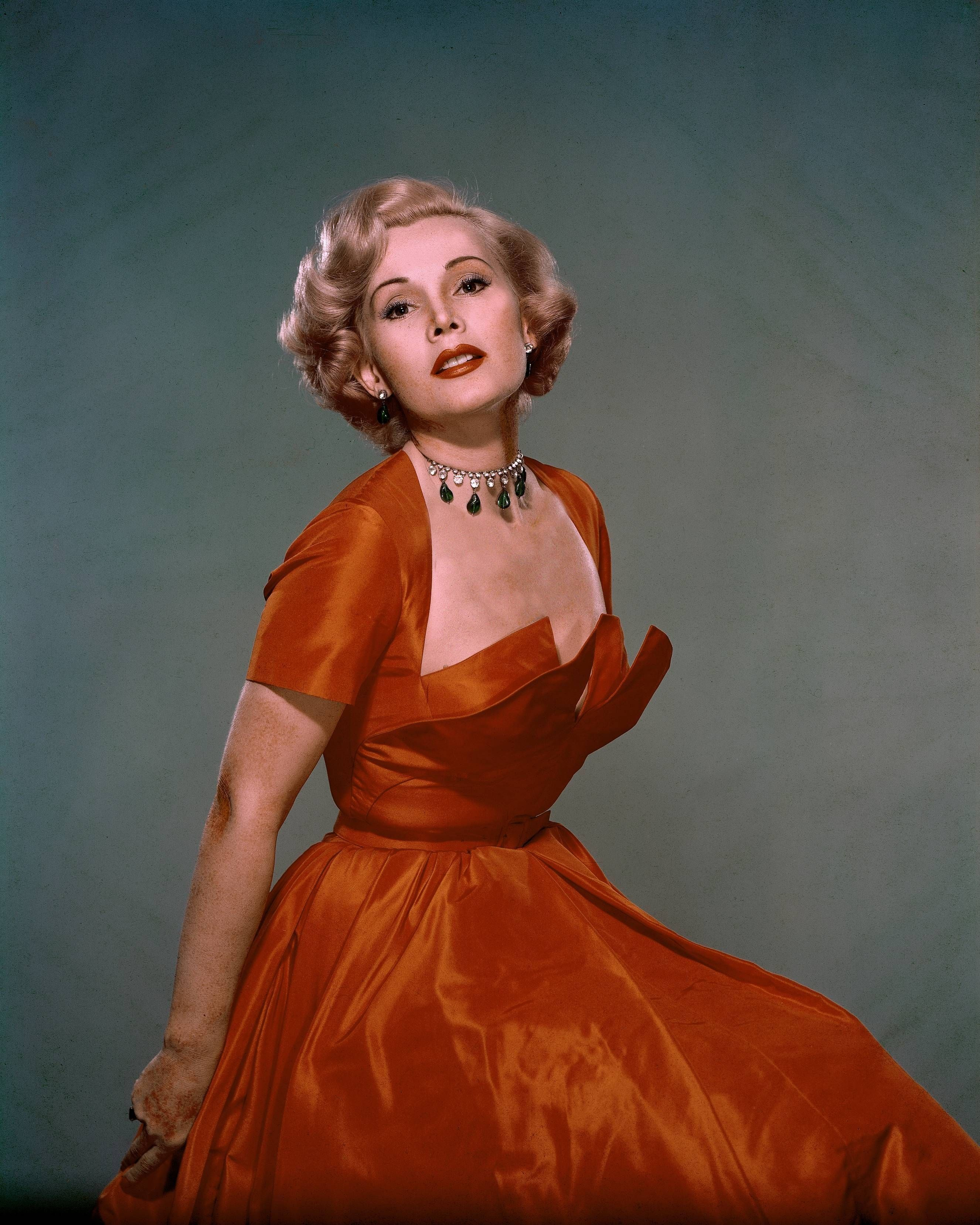 UNITED STATES - JANUARY 01:  Studio portrait of the French actress Zsa Zsa GABOR between 1950 and 1955.  (Photo by Keystone-France/Gamma-Keystone via Getty Images)