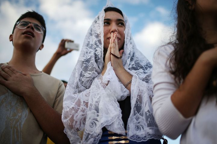 Christians celebrate the holiday of Corpus Christi in Brasilia, Brazil.