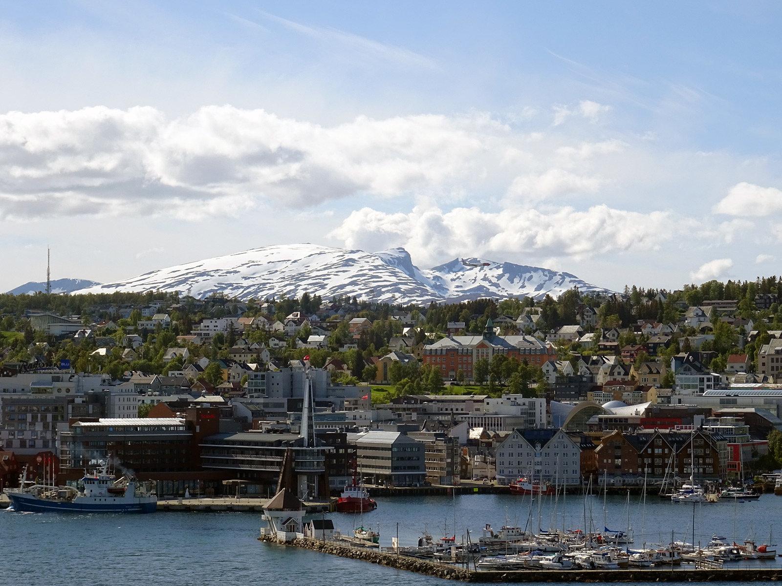 Tromsø, Norway from above.