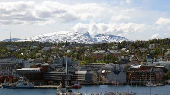 View of  Tromsø from the bridge