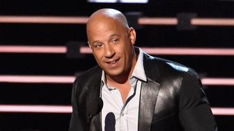 LOS ANGELES, CA - JANUARY 06:  Actor Vin Diesel, winner of the award for Favorite Movie, speaks onstage during the People's Choice Awards 2016 at Microsoft Theater on January 6, 2016 in Los Angeles, California.  (Photo by Lester Cohen/WireImage)