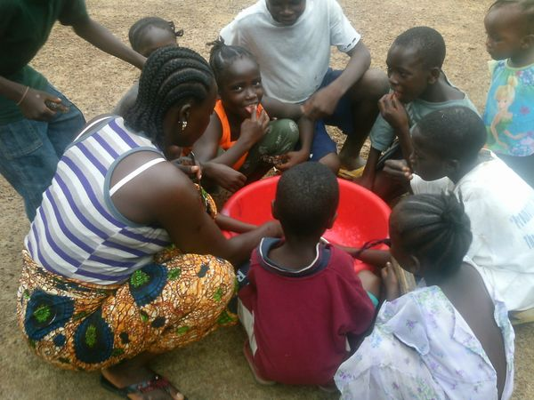 """Before the crisis, we used to all eat together. Children from neighboring houses would come together to help prepare a large"