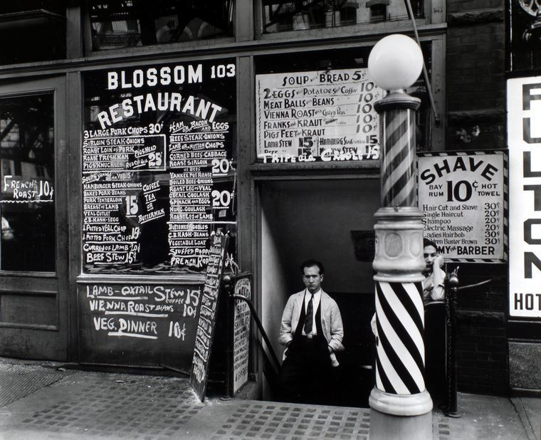 Blossom Restaurant, 103 Bowery, Manhattan, 1935.