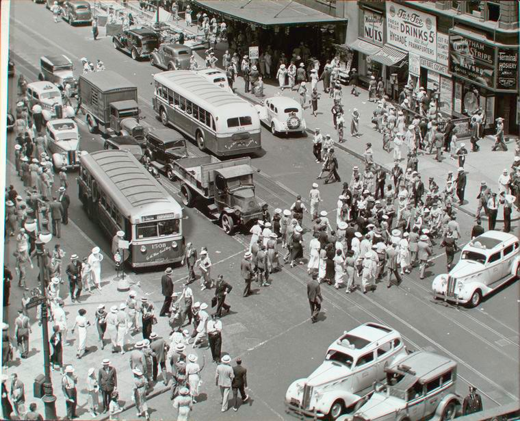 Herald Square and 34th St. in Manhattan, 1935.