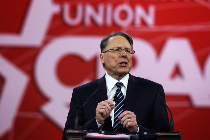 NRA Executive Vice President Wayne LaPierre. A new study suggestions that the organization's influence may be overstated.