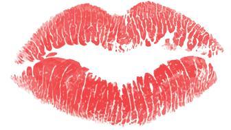 EPS10 lips prints set of 7