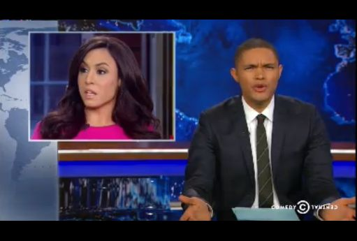 Trevor Noah was incredulous after airing a clip ofAndrea Tantaro's accusation that Obama had a raw onion under his lect