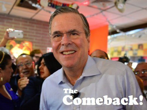 HIALEAH, FL - DECEMBER 28: Republican presidential candidate and former Florida Governor Jeb Bush holds a meet and greet at Chico's Restaurant on December 28, 2015 in Hialeah, Florida. Mr. Bush continues to campaign for his parties' nomination as the presidential candidate.