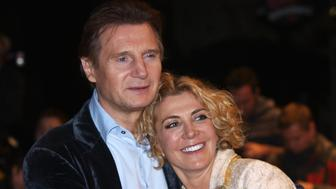 (FILES): This October 17, 2008 file photo shows actor Liam Neeson with his actress wife Natasha Richardson during the British premiere of his latest film, 'The Other Man', in London's Leicester Square, as part of the London Film Festival.  Actress Natasha Richardson has died, a spokesman said March 18, 2009, two days after the daughter of British theater icon Vanessa Redgrave apparently suffered brain damage in what was initially dismissed as a minor ski accident.     AFP PHOTO / Files / Max Nash (Photo credit should read MAX NASH/AFP/Getty Images)