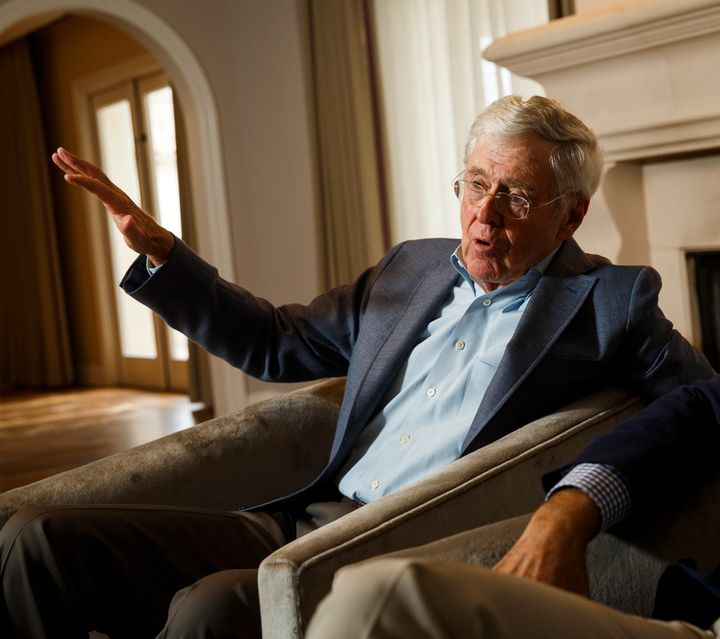 Billionaire libertarian Charles Koch told the Financial Times that withthe hundreds of millions his political network h