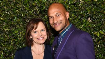 LOS ANGELES, CA - APRIL 30:  Cynthia Blaise and Keegan-Michael Key attend Paris Photo Los Angeles UTA Reception at Paramount Studios on April 30, 2015 in Los Angeles, California.  (Photo by Stefanie Keenan/Getty Images for Reed Expositions France  Paris Photo)