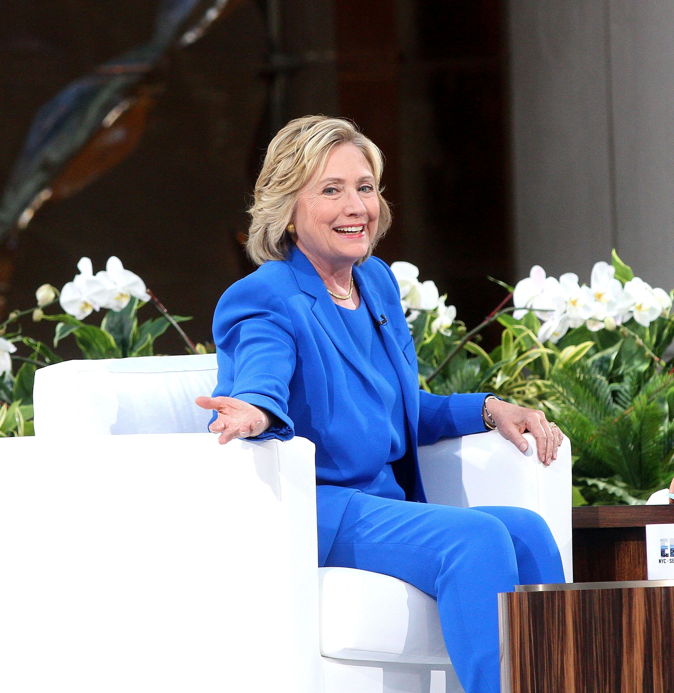 NEW YORK, NY - SEPTEMBER 08:  Hillary Clinton attends 'The Ellen DeGeneres Show' Season 13 Bi-Coastal Premiere at Rockefeller Center on September 8, 2015 in New York City.  (Photo by Laura Cavanaugh/FilmMagic)