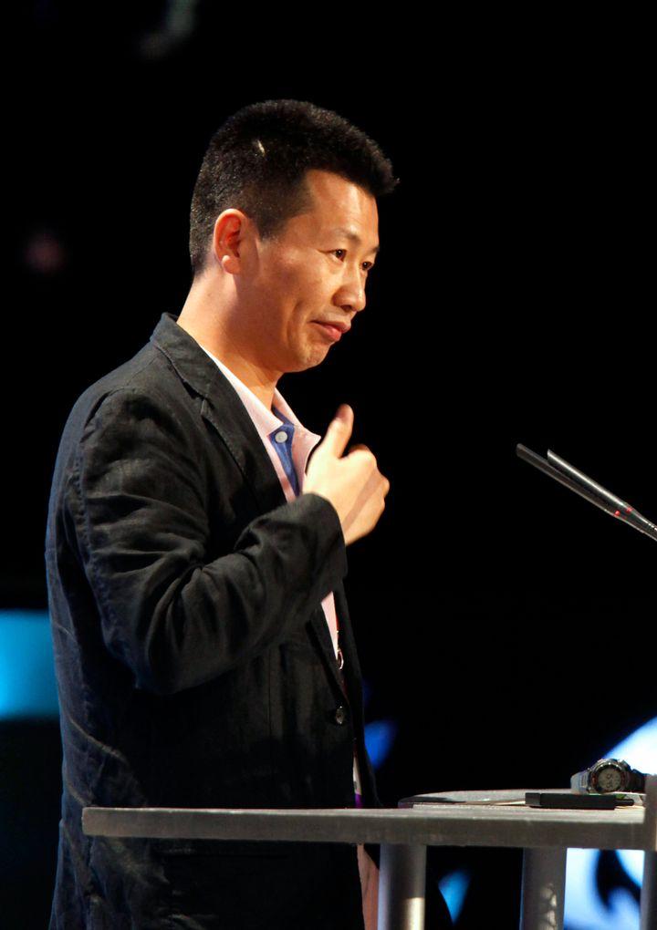 Zhou Chengjian, chairman of Metersbonwe Ltd., speaks at the 2010 Alibaba Netrepreneur Summit in Hangzhou, China, on Friday, S