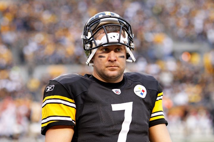 Roethlisberger looks on during a game against the Cincinnati Bengals at Heinz Field on Dec.4, 2011, in Pittsburgh, Penn