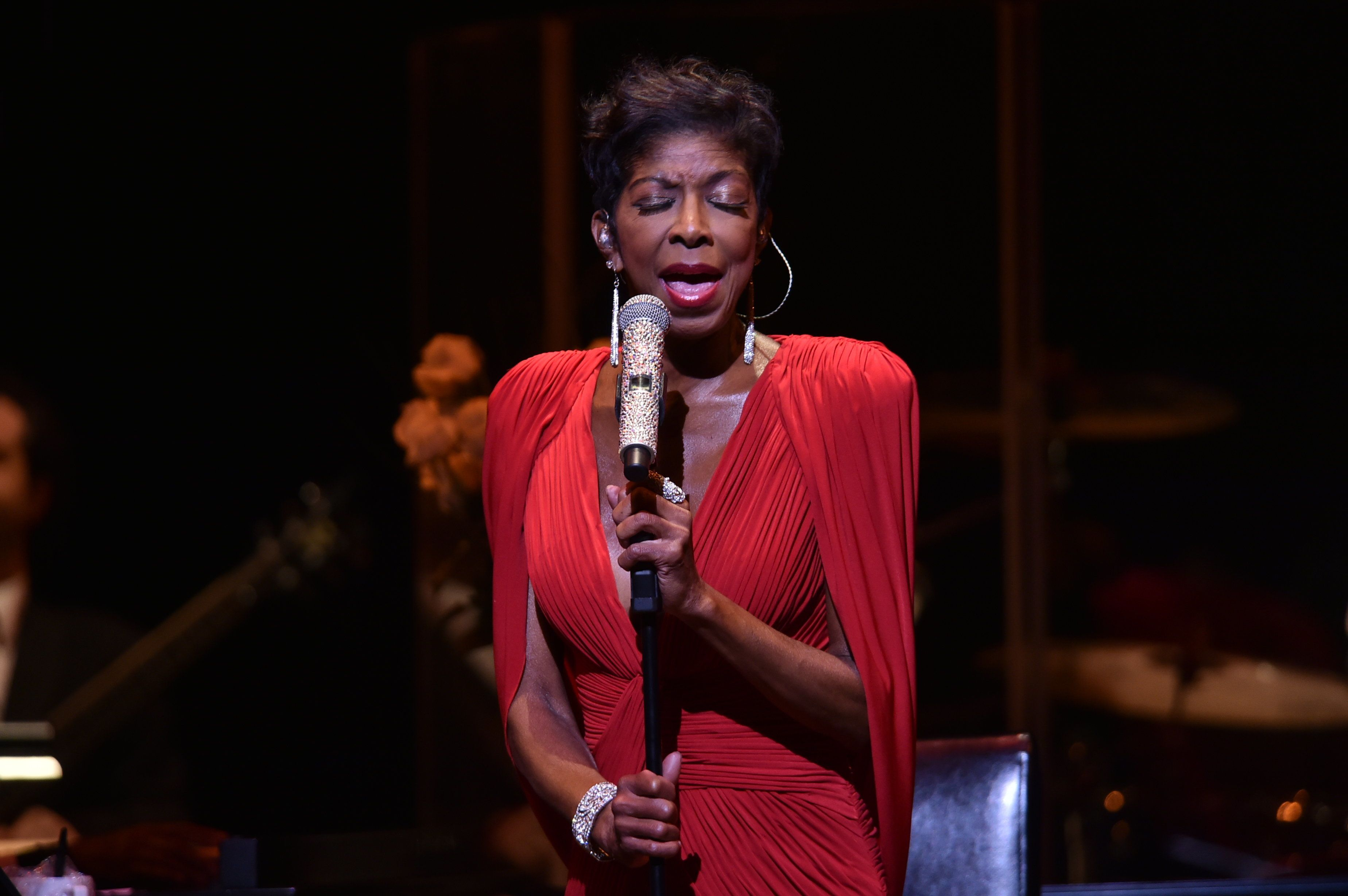 ATLANTA, GA - JUNE 26:  Recording Artist Natalie Cole performs atJazz 91.9 WCLK 41st Anniversary Benefit Concert at Cobb Energy Performing Arts Center on June 26, 2015 in Atlanta, Georgia.  (Photo by Moses Robinson/Getty Images)