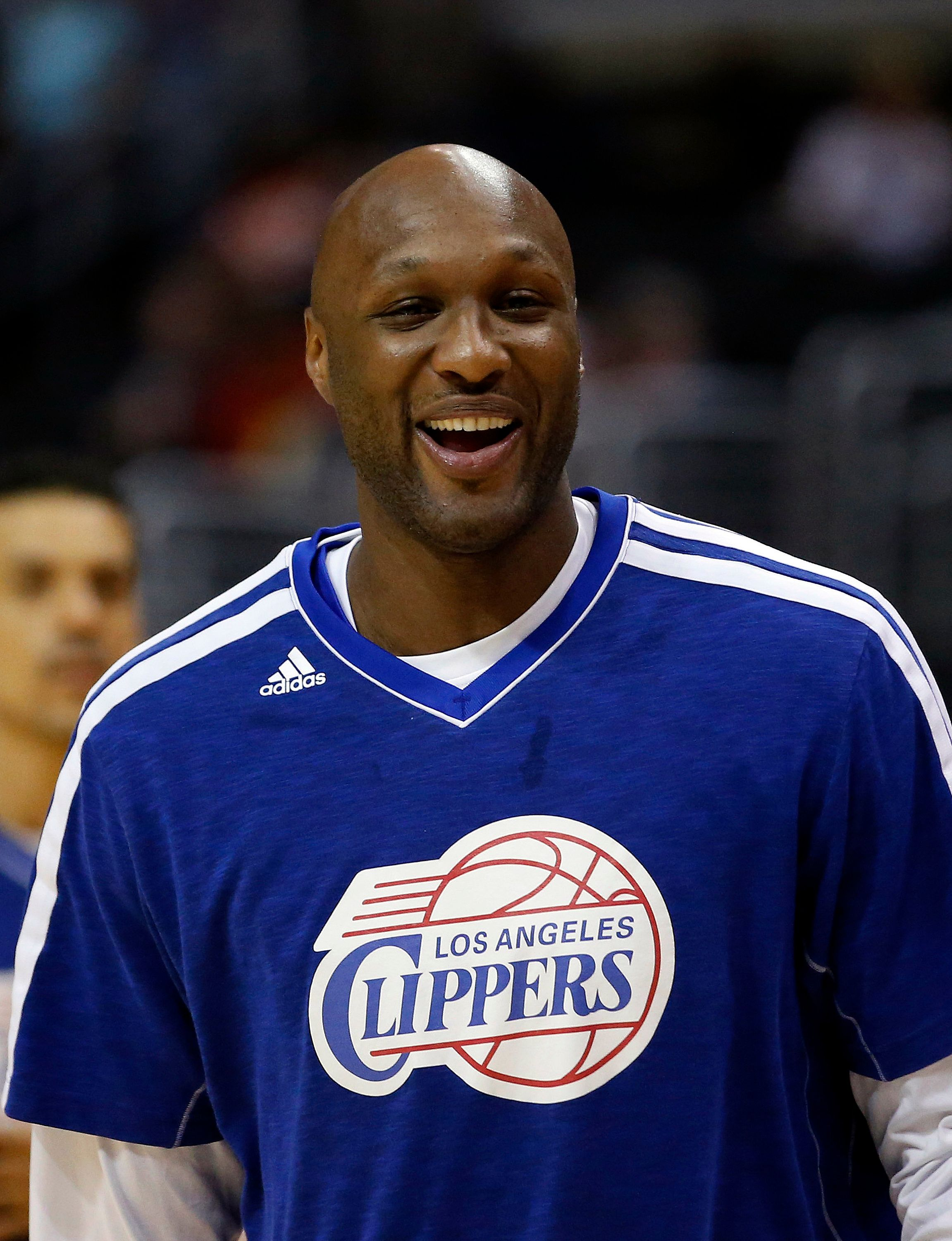 FILE - In this March 13, 2013, file photo, Los Angeles Clippers' Lamar Odom smiles during NBA basketball practice in Los Angeles. Odom has been charged Friday, Sept. 13, 2013, with a misdemeanour count of driving under the influence, nearly two weeks after his Mercedes-Benz was pulled over on a Southern California freeway. The Los Angeles city attorney's office said that the charges stem from Odom's Aug. 30 arrest in the San Fernando Valley. (AP Photo/Jae C. Hong, File)