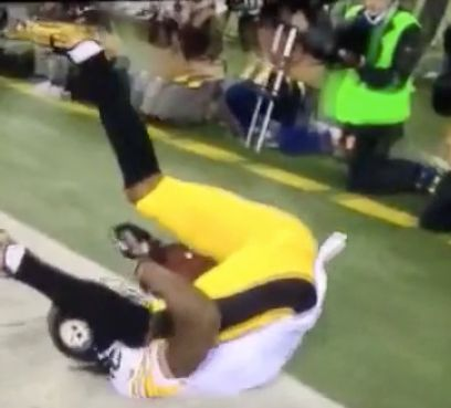 Martavis Bryant used his crotch to safely tuck a touchdown catch.