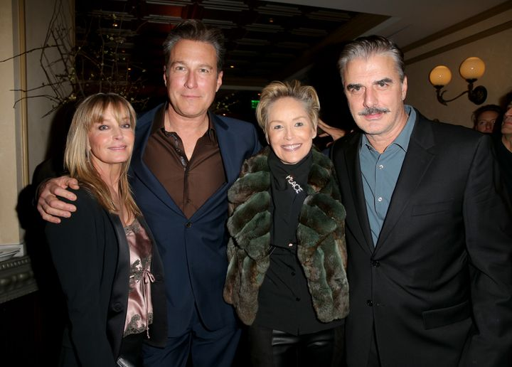 """John Corbett and Chris Noth (aka Aidan and Mr. Big) had a """"Sex and the City"""" reunion that also includedBo Derek and&nbs"""