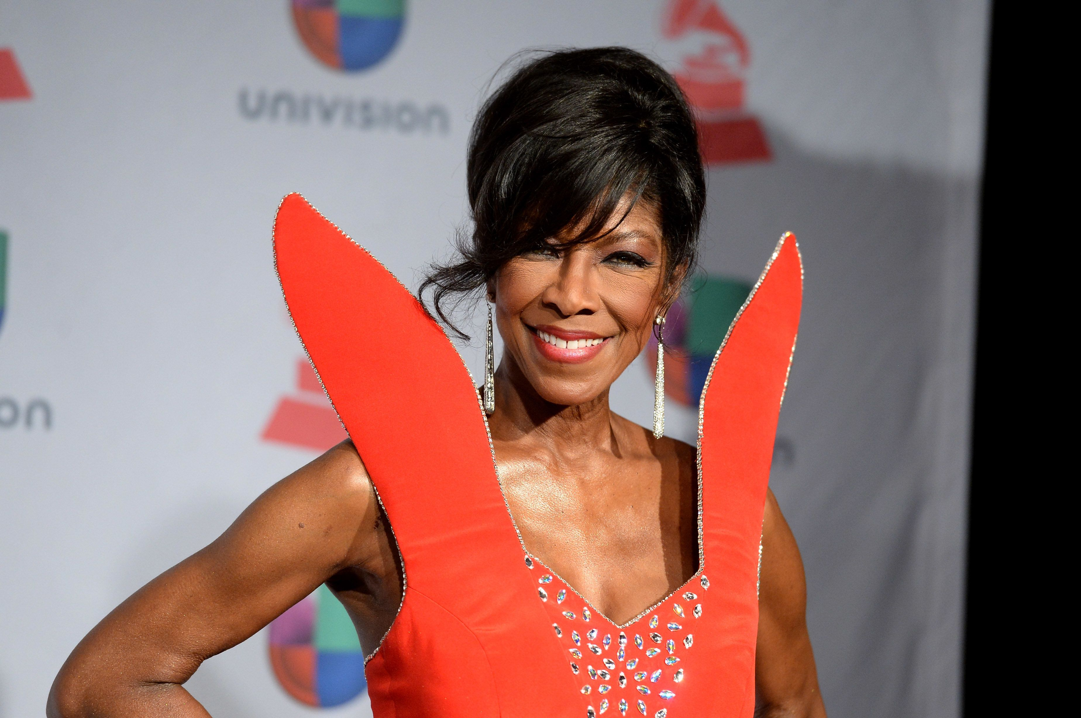 LAS VEGAS, NV - NOVEMBER 21:  Singer/songwriter Natalie Cole poses in the press room at the 14th Annual Latin GRAMMY Awards held at the Mandalay Bay Events Center on November 21, 2013 in Las Vegas, Nevada.  (Photo by Jason Merritt/Getty Images)