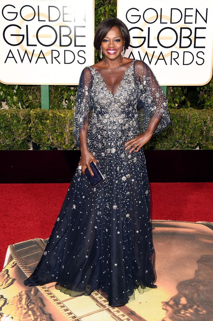 Viola Davis at the 73rd Annual Golden Globe Awards in Beverly Hills, California.