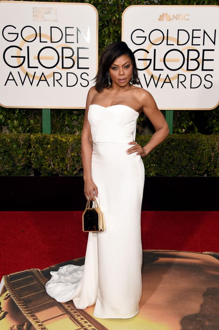 Taraji P. Henson at the 73rd Annual Golden Globe Awards in Beverly Hills, California.