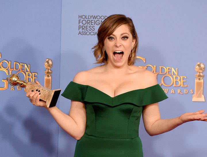"""Rachel Bloom, winner of the award for Best Performance by an Actress in a Television Series - Musical or Comedy for """"Crazy Ex"""