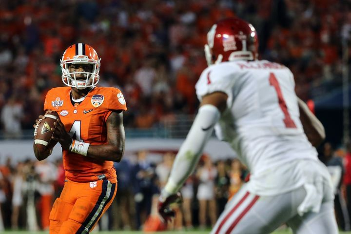 Watson, a Heisman finalist, amassed a stellar 41 total touchdowns as a sophomore, leading undefeated Clemson to its first nat