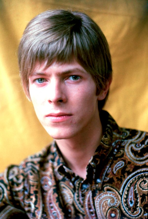Portrait of David Bowie photographed in 1967.