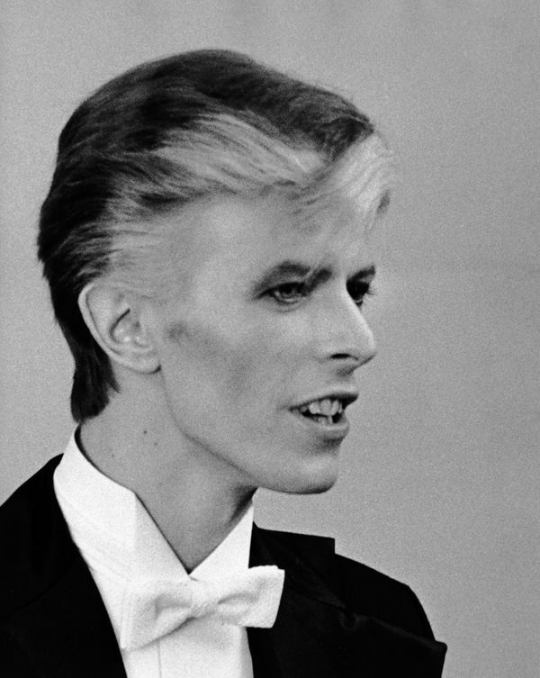 David Bowie attends 17th Annual Grammy Awards on March 1, 1975 at the Uris Theater in New York City.