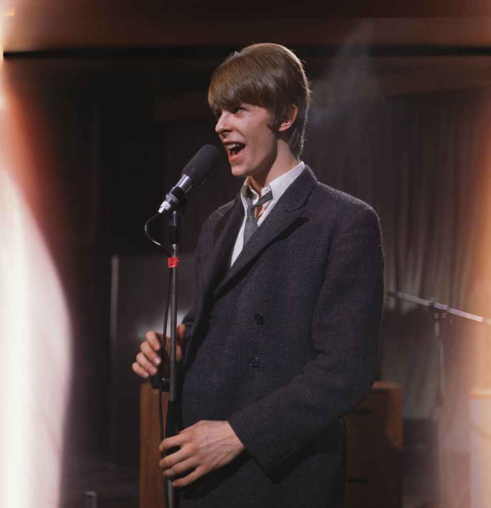 "David Bowie performs on the TV show ""Ready, Steady, Go"" on March 4, 1966 in London, England."